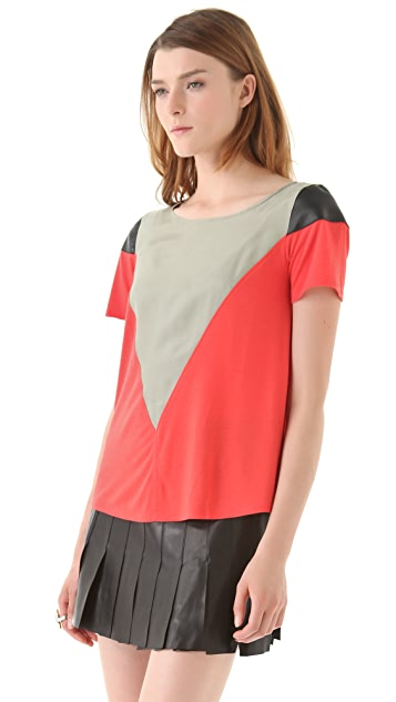 AIKO June B Colorblock Top