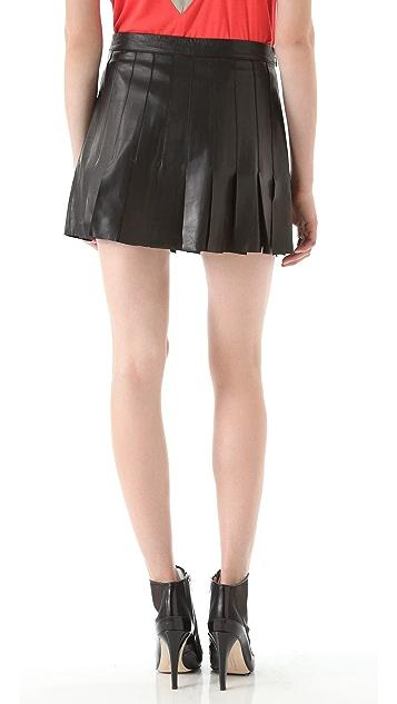 AIKO Blythe Leather Skirt