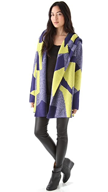 AIKO Muriel Hooded Sweater Coat