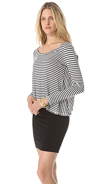 AIKO Andie Draped Split Back Top