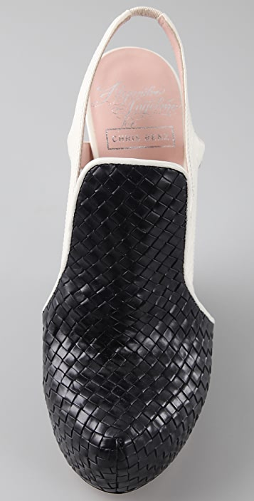 Alejandro Ingelmo for CHRIS BENZ Woven Wedge Pumps