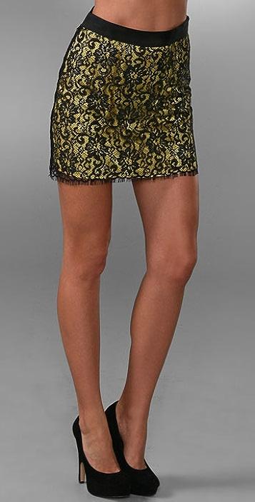 AKA New York Lace Miniskirt