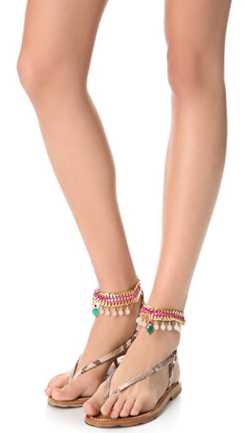 Akong London Crystal Anklet Set