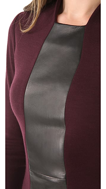 Alex Kramer Wool Dress with Leather