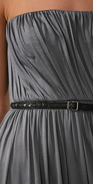 A.L.C. Strapless Maxi Dress with Belt