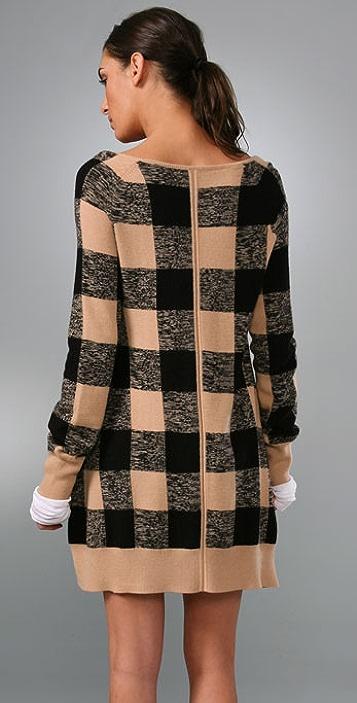 A.L.C. Checkerboard Cashmere Cardigan