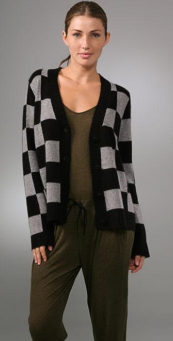 A.L.C. Checkerboard Cardigan