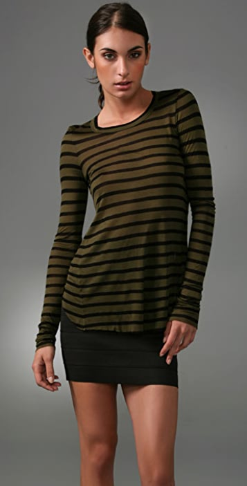 A.L.C. Long Sleeve Sexy Back Top