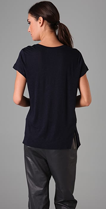 A.L.C. Twisted Seam Pocket Tee