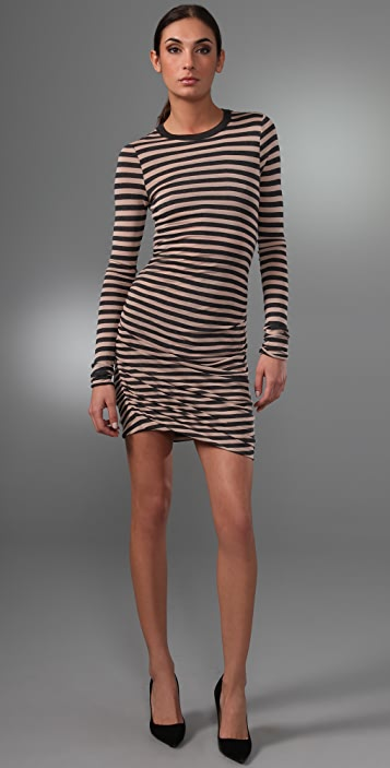 A.L.C. Striped Twisty Dress