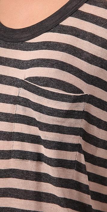 A.L.C. Classic Striped Pocket Tee