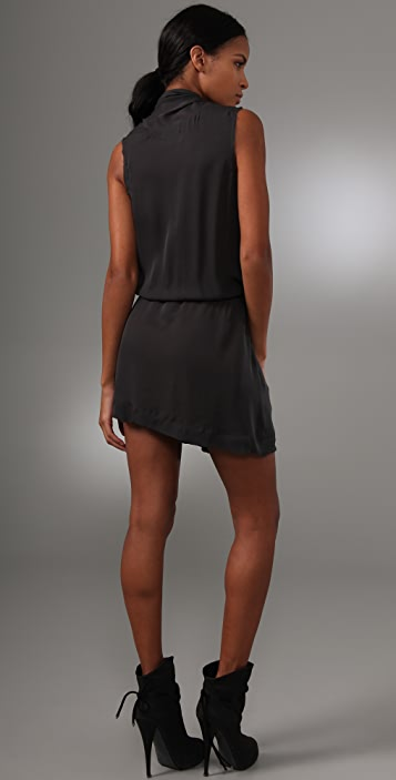 A.L.C. Silk Side Drape Dress