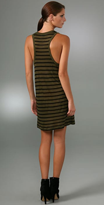 A.L.C. Racer Back Striped Tank Dress