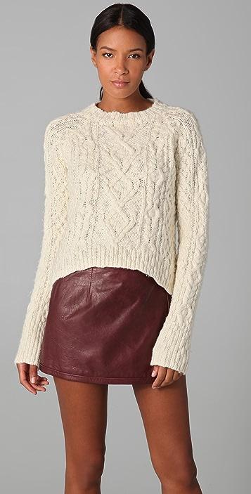 A.L.C. Cropped Fisherman Sweater