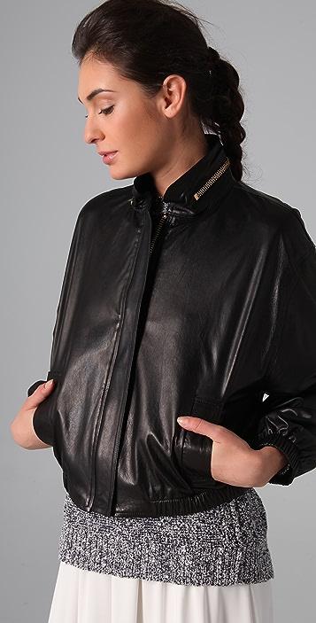 A.L.C. Noah Leather Bomber Jacket