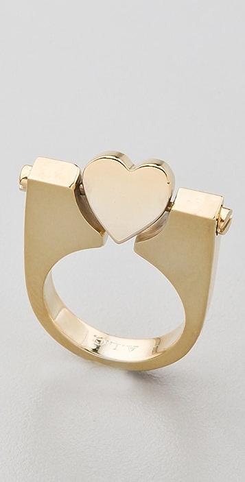 A.L.C. Rotating Heart Ring