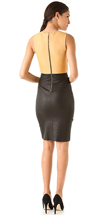 A.L.C. Mika Leather Dress