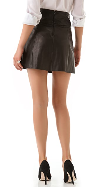 A.L.C. Esme Leather Skirt