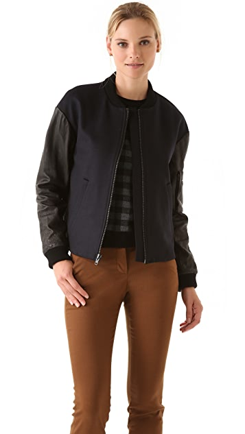 A.L.C. Wool & Leather Lennon Bomber Jacket