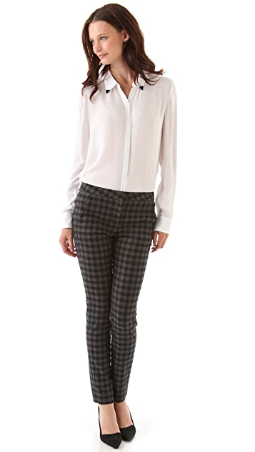 A.L.C. Checkered Mick Pants