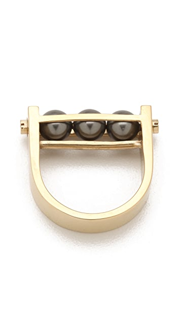 A.L.C. Pearl Cage Ring