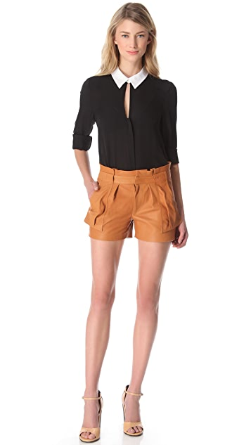 A.L.C. Cash Leather Shorts