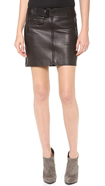 A.L.C. Andras Leather Skirt