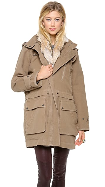 A.L.C. Forrest Fur Trim Jacket