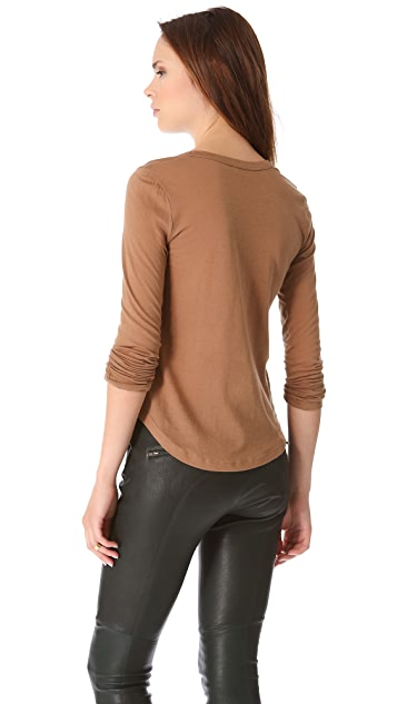 A.L.C. Long Sleeve Scoop Neck Top