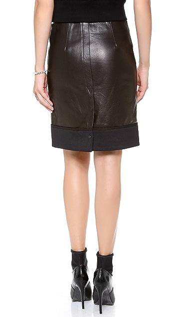 A.L.C. Nestler Leather Skirt