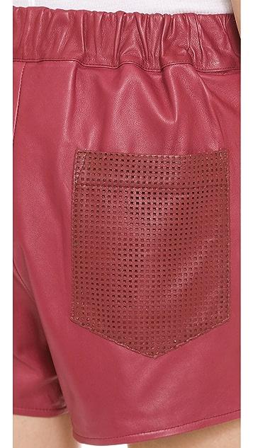 A.L.C. Leather Parker Shorts