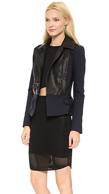 A.L.C. Laura Combo Leather Jacket