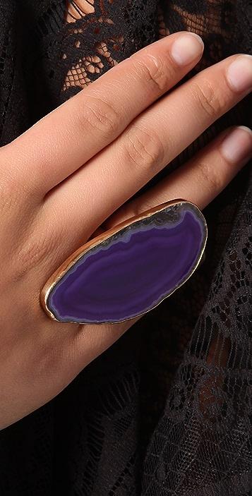 Charles Albert Agate Slice Ring