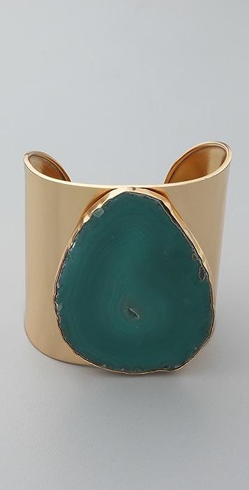 Charles Albert Agate Solid Cuff