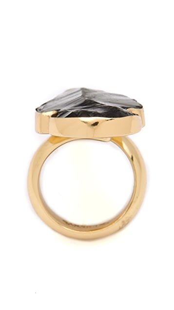 Charles Albert Obsidian Arrowhead Ring