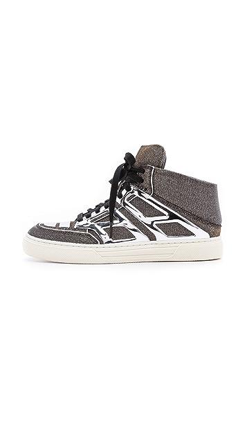 Alejandro Ingelmo Tron Metallic Sneakers