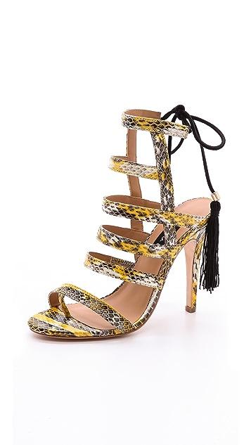 Alejandra G Gijon Strappy Tassel Sandals