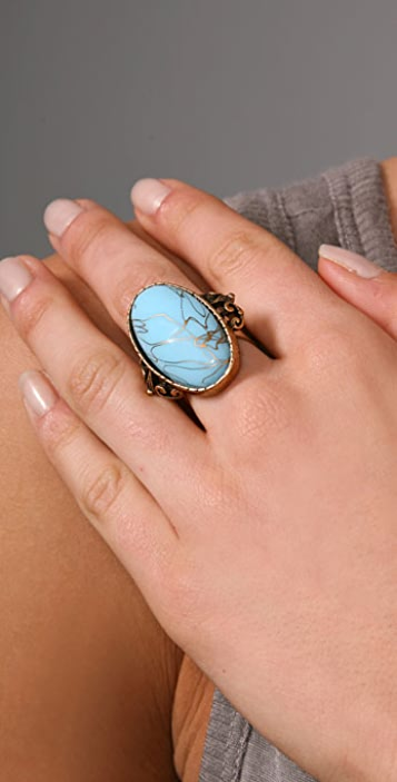 Alex and Ani Holly Vintage Bohemian Cocktail Ring