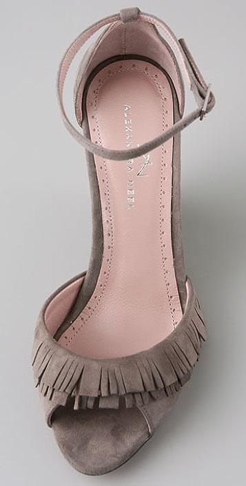 Alexandra Neel Aphrodite Fringe Wedge Sandals