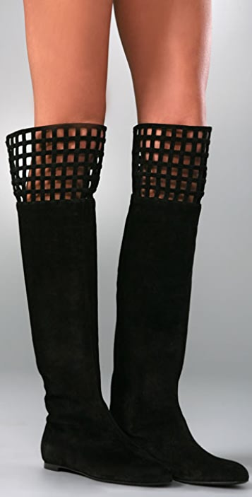 Alexandra Neel Twinset Suede Over the Knee Boots