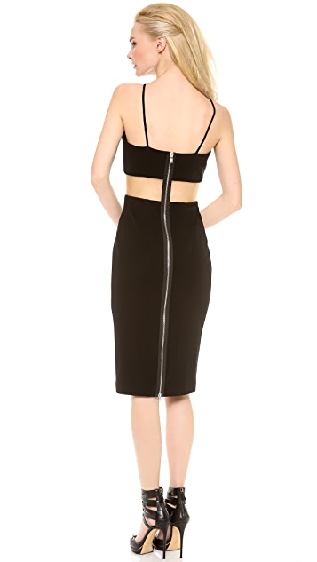 Alex Perry Ariel Halter Contrast Dress