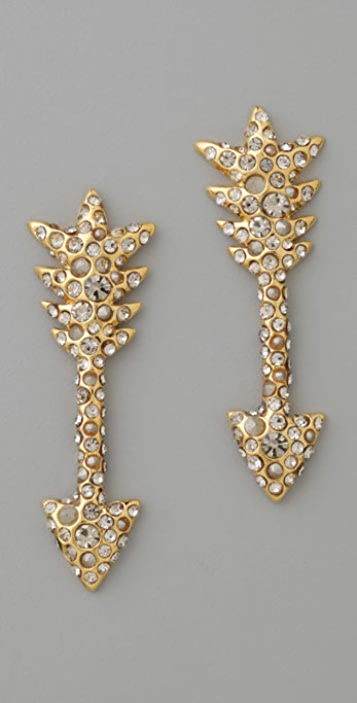 Alexis Bittar Crystal Encrusted Arrow Earrings