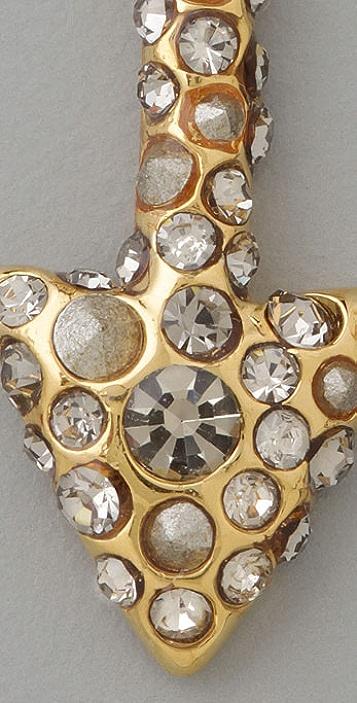 Alexis Bittar Crystal Encrusted Arrow Earrings