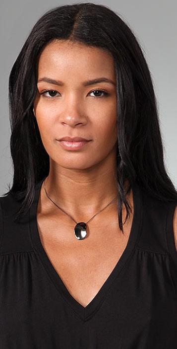 Alexis Bittar Wavy Oval Pendant Necklace