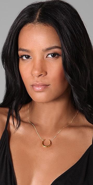 Alexis Bittar Liquid Gold Horseshoe Necklace