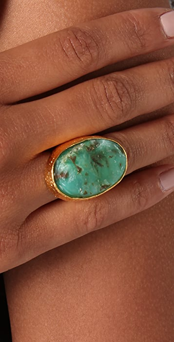 Alexis Bittar Oval Chrysophase Ring