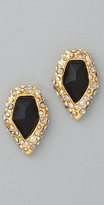 Alexis Bittar Crystal Encrusted Onyx Earrings