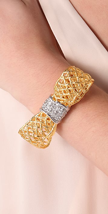 Alexis Bittar Pave Woven Bow Cuff