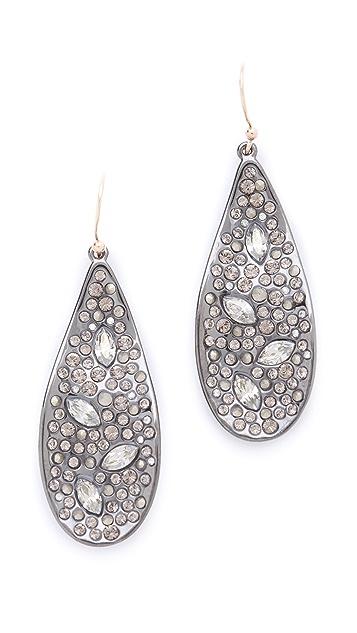 Alexis Bittar Crystal Encrusted Teardrop Earrings