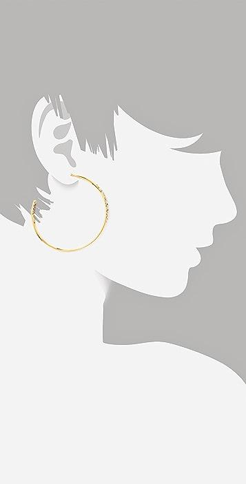 Alexis Bittar Crystal Encrusted Extra Large Hoop Earrings
